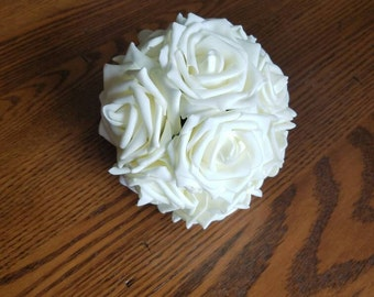Bridal bouquet, simple bridal bouquet, custom bridal bouquet, Ivory bridal bouquet, budget bridal bouquet, wedding bouquet, ivory wedding