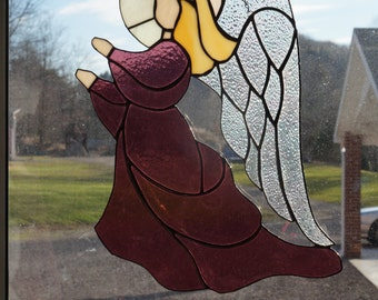 Large Stained Glass Angel Suncatcher