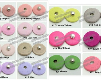 10sets Solid fabric covered snap Fasteners Invisible Poppers metal Button Press Studs Clothes Sewing 11mm 13mm 16mm 18mm 21mm 23mm 25mm New