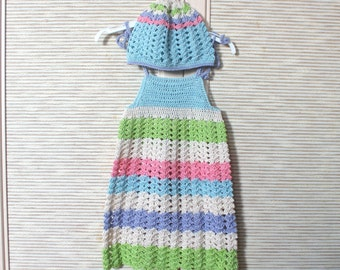 Baby Girl Dress - baby girl sundress -baby girl clothes - baby girl sundress with hat