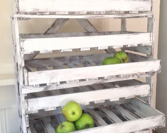 Apple Rack  Kitchen Storage.  Hand painted in Suffolk