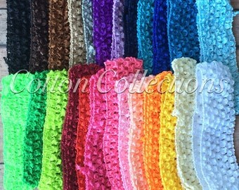 Crochet/Woven Elastic Headband, Plain, Add a Bow