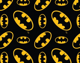 Per Yard, FLANNEL Batman DC Comics Fabric From Camelot