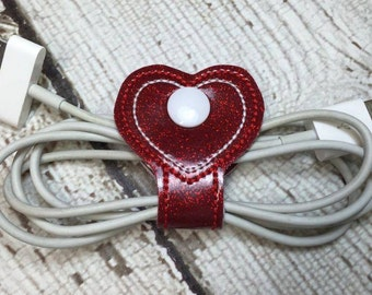 Heart - Cord Holder - In The Hoop - DIGITAL Embroidery Design