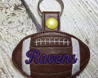 Ravens Football - In The Hoop - Snap/Rivet Key Fob - DIGITAL Embroidery Design