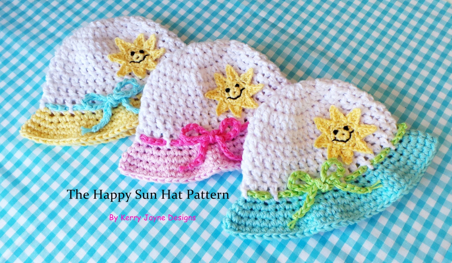 Happy Sun Hat Crochet Pattern Baby