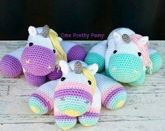 MADE TO ORDER Freya the Unicorn crochet amigurumi soft toy