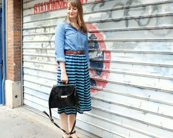 Vintage striped skirt,size L ( 12)