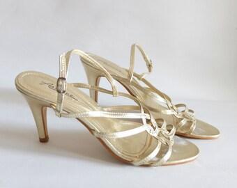 Vintage sandal, 80s with heels, size 38 ( 5 UK/ 6.5 US)