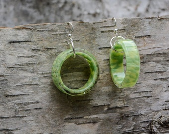 spring sunshine circles earrings handblown glass