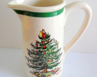 Beautiful Spode pitcher with Christmas Tree motif