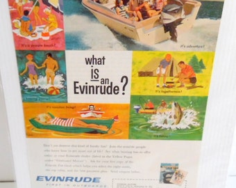 1960s Evinrude Outboard motor ad.  Not dated, but I think this is from the 60s