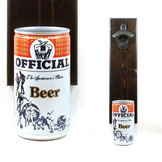 Wall mounted beer bottle opener with a schell sportsman 39 s - Wall mounted beer bottle opener cap catcher ...