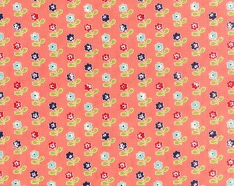 SALE!! 1/2 Yard - Vintage Picnic-Bonnie and Camille - Coral - Moda - Fabric Yardage - 55121-13