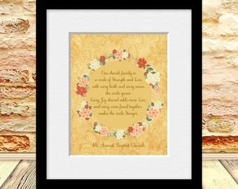 Gift for Pastor, Religious Gift, Christian Gift, Gift for Church Family, Church Family Poem, Personalized Gift for Church Members