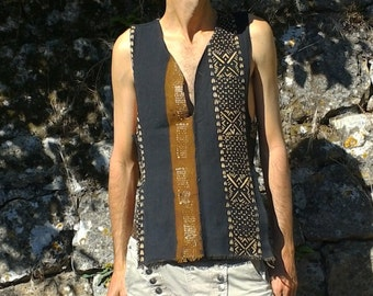 Organic cotton ethnic gao desert tank top