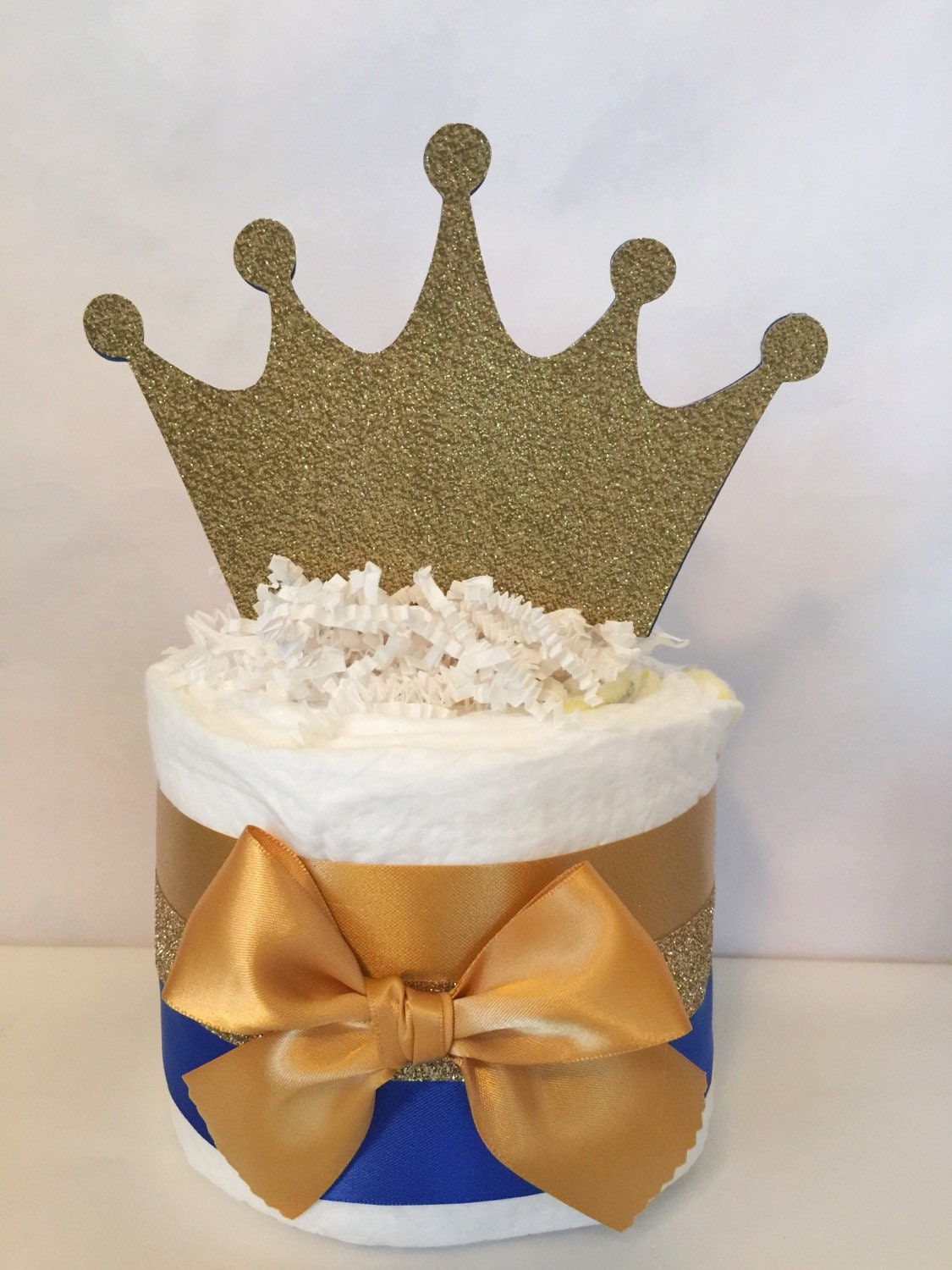 cakes in royal blue and gold prince theme baby shower decorations