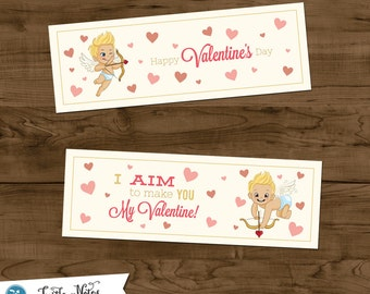 2 Printable Valentine Cupids Treat Bag Toppers