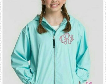 Youth Charles Rivers Monogrammed Rain Jacket/Monogrammed New England Rain Jacket/Youth Rain Coat/Charles Rivers/Personalized/Girls/Boys