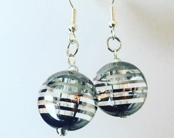 Glass Globe Earrings