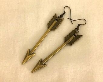 Hunger Games Inspired Arrow Earrings