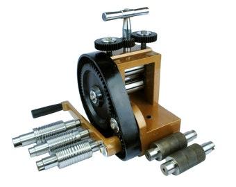 Proops Budget Jewellers Mini Rolling Mill with 7 Rolls 76mm X 43mm (J1140). Free UK Postage.