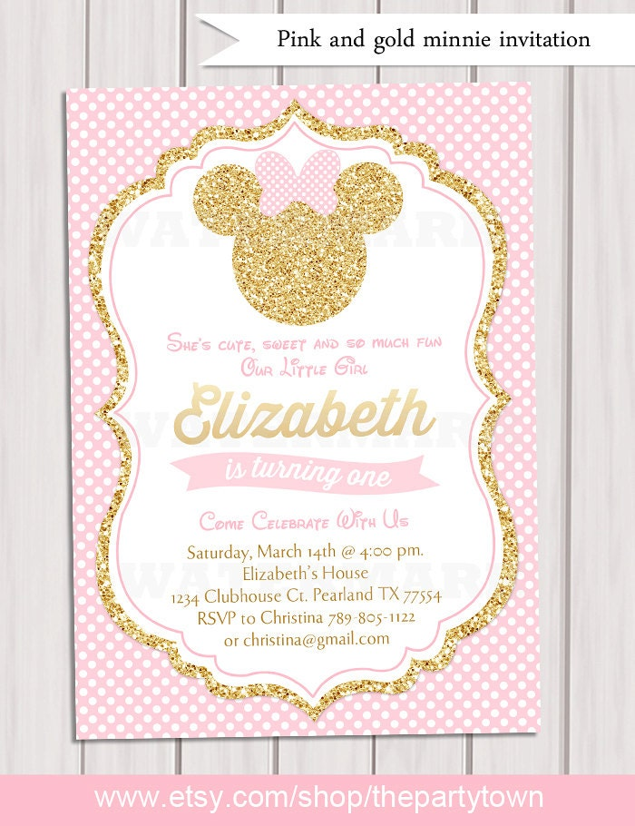 Create Your Own Mickey Mouse Invitations - Best Custom Invitation Template | PS Carrillo