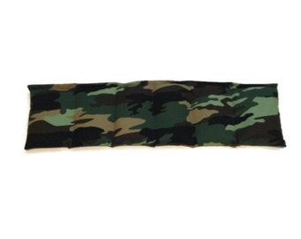 Microwaveable Flax Seed Heating Pad in Camouflage Print. Aromatherapy