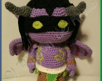Amigurumi inspirado en Illidan - World of Warcraft