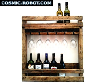 Handcrafted Reclaimed Wood Wine Rack, handmade wedding gifts