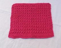"1-10 dish cloth, 9"" x 8"", hand knitted, knitting dishcloth, cotton dishcloth, baby cloth, kitchen cloth, washcloth"