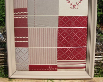 Frame collage fabric patchwork