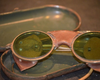 Antique Wilson Goggles with Case