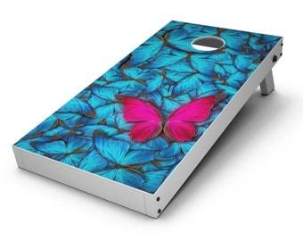 Contrasting Butterfly - Cornhole Board Skin Kit