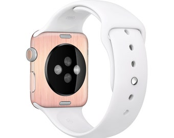 The Rose Gold Brushed Surface Full Body Skin Set for the Apple Watch