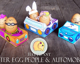 Easter Egg Automobiles to DIY - Printables