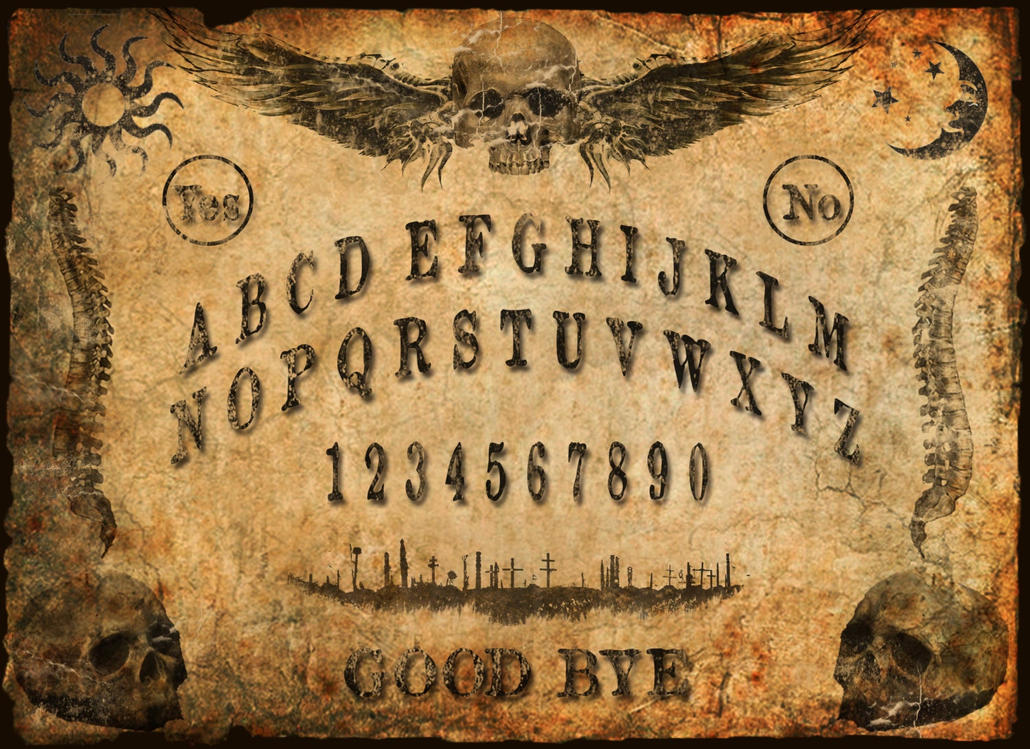 It is a photo of Divine Printable Ouija Board
