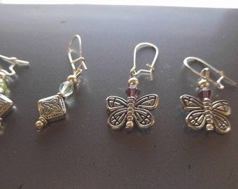 Two sets of earrings