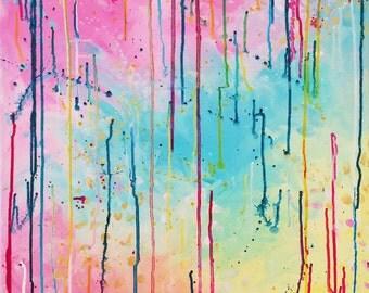 70 - original abstract painting (acrylic on canvas) wall art interior design homedecor