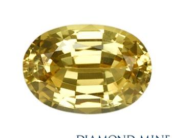 1.63 Carat Yellow Sapphire, Oval cut Sapphire, Loose Sapphire Gemstone, Yellow Gemstone, Non Heated Real Sapphire