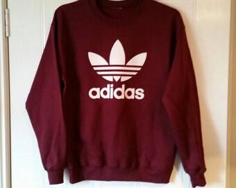 unisex customised adidas sweatshirt t shirt grunge festival fashion