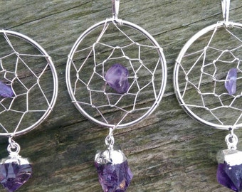 Amethyst Dream Catcher Pendant