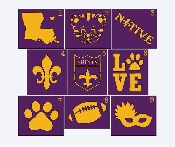 Louisiana Stencils for Onesie Painting- LSU Stencil - New ...