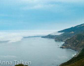 Big Sur Blue Coast Photograph