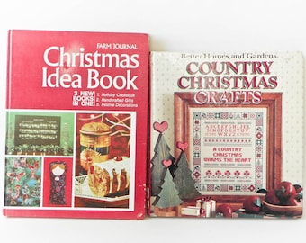 Vintage Christmas Crafts Books - Farm Journal Idea Book 1972 Meals Crafts - Country Craft Better Homes Gardens 1979
