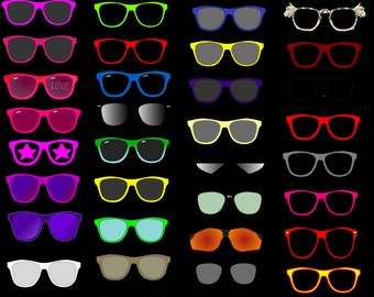 Digital Sunglasses and Glasses Images Photo Props