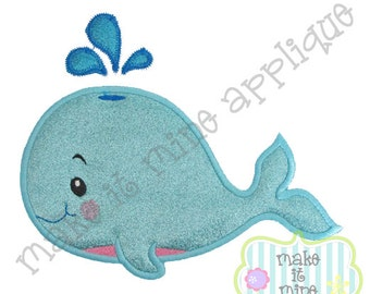 Applique Ocean Animal Whale 2 Machine Applique Design
