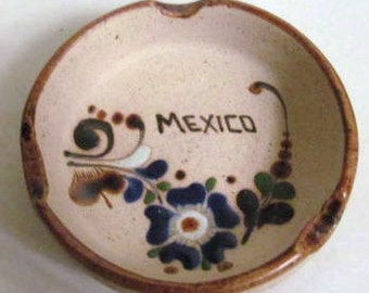 Cancun Handmade Ceramic Collectible Pottery MEXICO ASHTRAY By JC