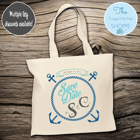 Beach Rope Anchor Wedding Tote Bag ~ Bride to Be tote bag, Nautical,Beach Wedding,Mother tote, Wedding party tote, Wedding Favor, Gift Tote