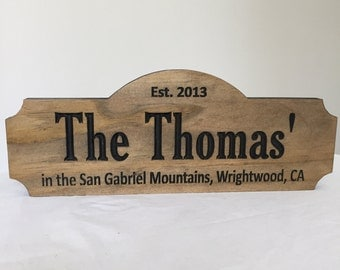 Custom Lake House Sign, Shape Sign, Rustic Cabin Signs, Welcome Signs, wood carved Sign,  Outdoor Wood Sign, Wooden Carved Signs